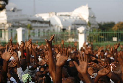Haitians in prayer with repentive hearts right after the earthquake. Was it true repentance?